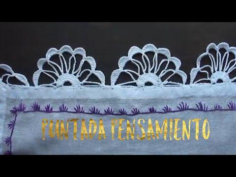 PUNTILLAS PARA MANTEL Y SERVILLETAS #31 Puntillas Fáciles para Mantel - YouTube