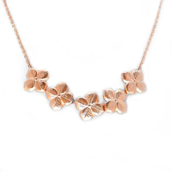 Beautifully delicate, this floral hyacinth necklace is both feminine and sophisticated, adding a summery floral touch to any outfit. Inspired by walks in the park and beautiful British gardens, this necklace is made up of five adorable hyancinth design charms on a subtle thin chain. Available in silver, gold, and rose gold plaited stainless steel. Chain length 18cm, Charm length 7cm. #annalouoflondon