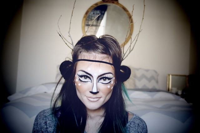 Beautiful Deer Costume Make up Tutorial and Video I like this without the antlers, since doe's do not have antlers