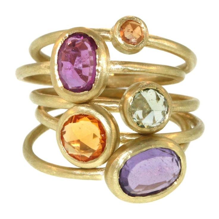 5 Part Sapphire Ring by Liseanne Frankfurt