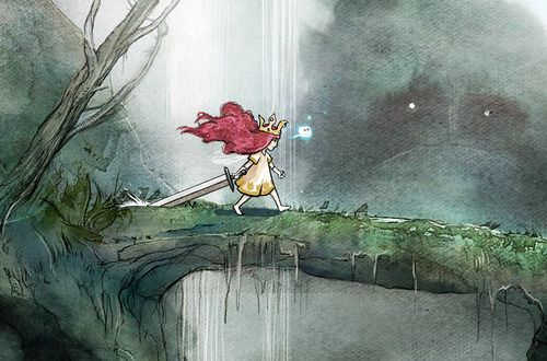 Child of Light Aurora Such a good game with beautiful watercolour artwork