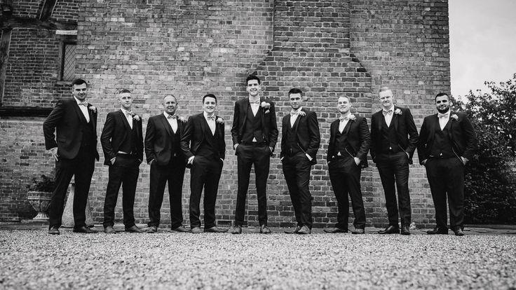 The boys are ready! @LillibrookeMnr Photo by Benjamin Stuart Photography #weddingphotography #lads #weddingday #groom #groomsmen #blackandwhite #groupshot #tedbaker #lillibrookemanor