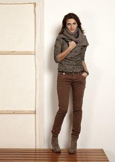 OSI Femmes, Ga voor heerlijk bruin met een mooie sjaal. Nu nog niet, maar voor over een paar weken...