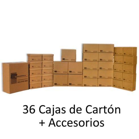 Nuestro pack de mudanza b sica consta de 36 cajas for Cajas para mudanzas