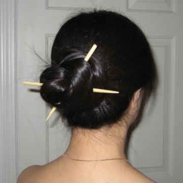 Consigli fai da te: raccogliere capelli bacchette (Foto) | Tempo libero pourfemme