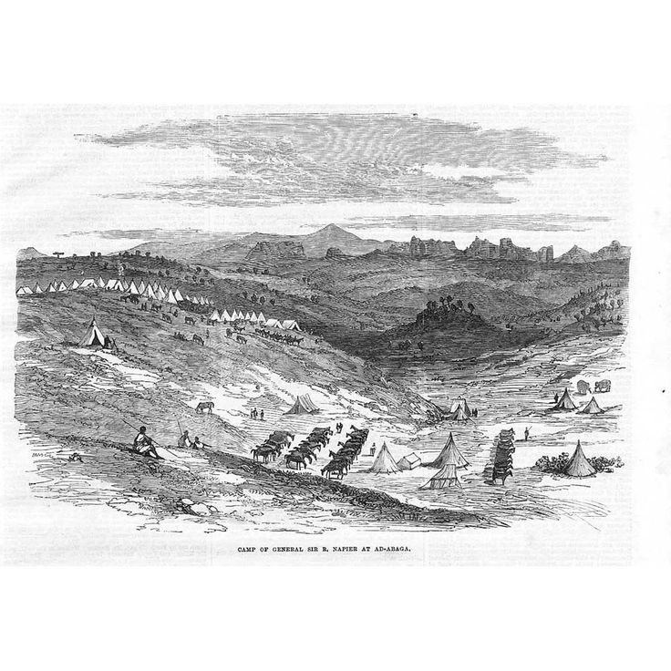 ETHIOPIA Abyssinian Expedition Napier's Camp at Ad Abaga