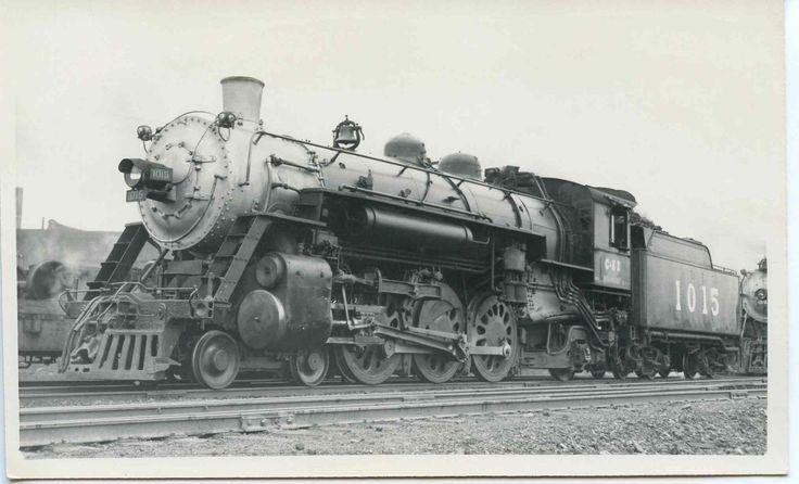 7A124 RP 1947 C&EI CHICAGO & EASTERN ILLINOIS RAILROAD LOCO #1015 DANVILLE IL