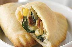 Empanadas de queso, espinaca y tocino receta