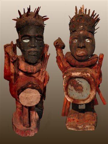 statuetes nkisi YOMBE RDC-Universite de Louvain
