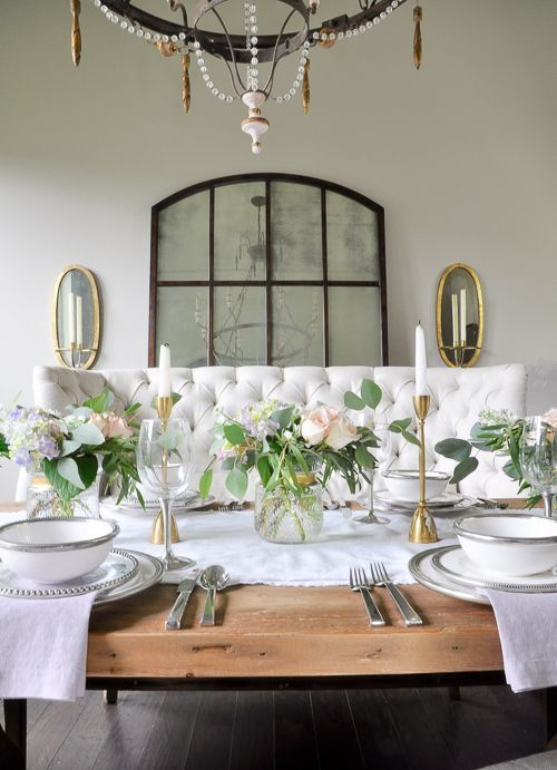Dinner Party Spotlight Neutral Dining RoomsWhite