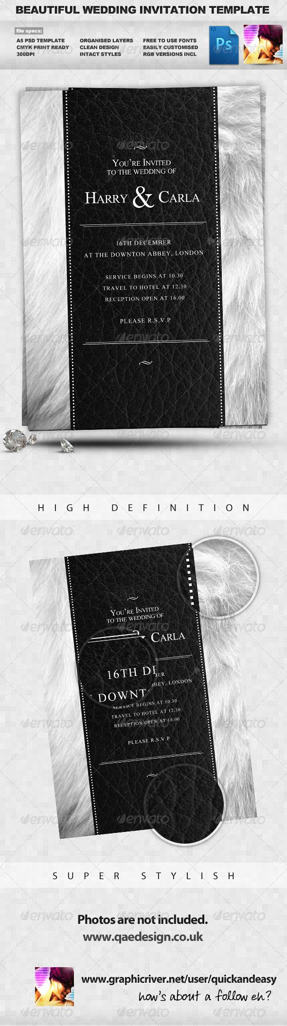 free wedding invitation psd%0A Wedding Invite Template