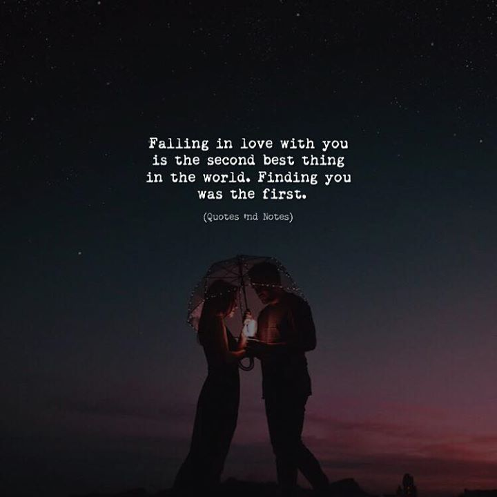 Falling in love with you is the second best thing in the world. Finding you was the first. via (http://ift.tt/2vBf2Rg)