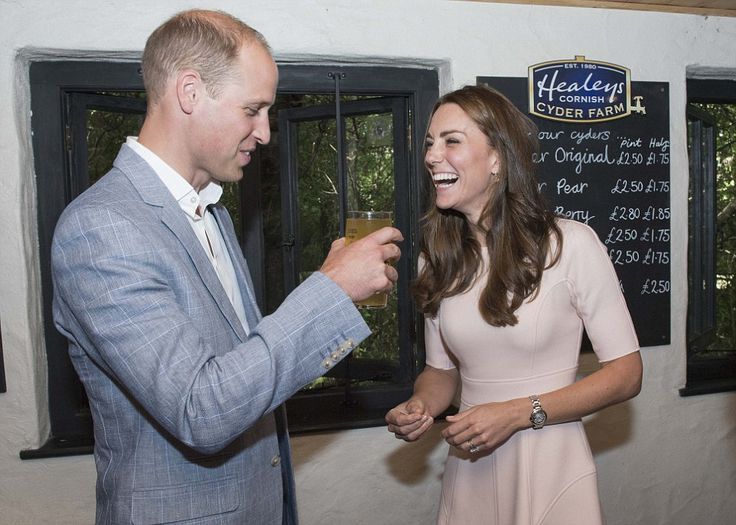 William looks slightly dubious about the pint of cider his wife has just presented him with - 1 September 2016