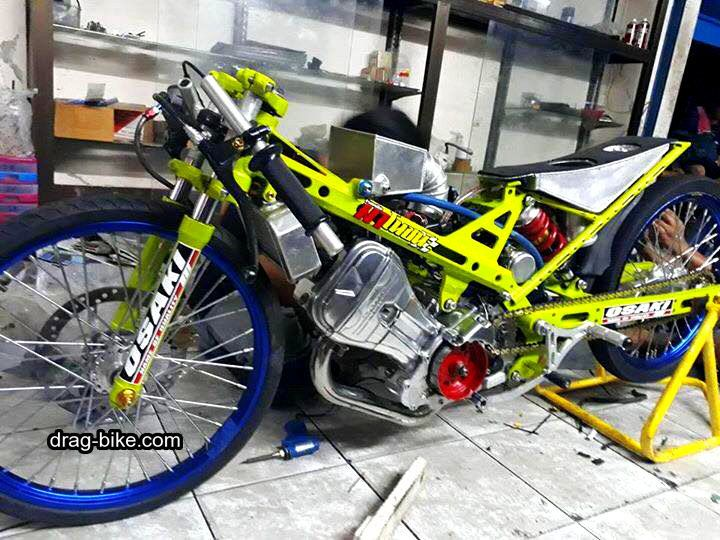 Modif Motor Drag Sonic Honda Sepeda Pembalap