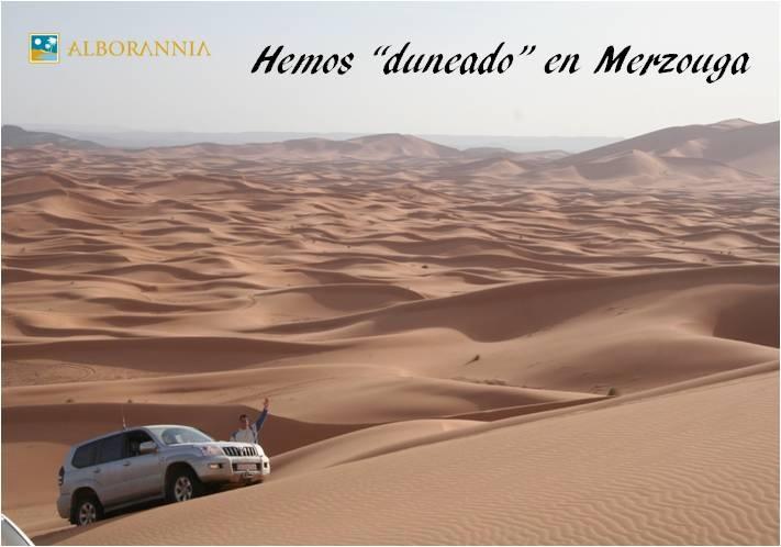 Las Grandes Dunas de Merzouga. Desierto de dunas