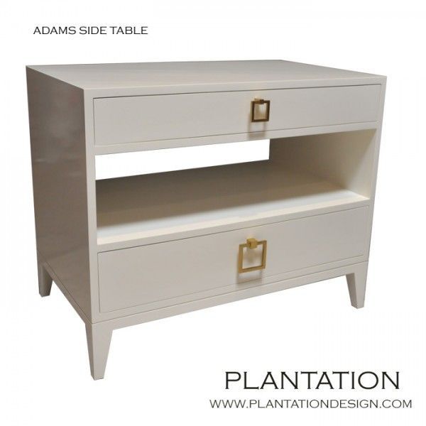 Adams Side Table | Swiss Coffee