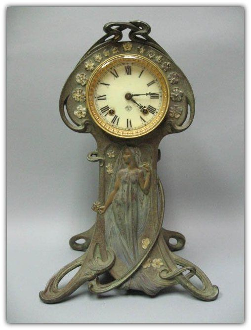 Ansonia Clock Co. | Art Nouveau Mantle Clock.