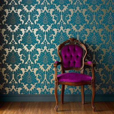 Cottage Garden Purple Floral Wallpaper - Rose Wall Coverings by Graham & Brown | Graham & Brown