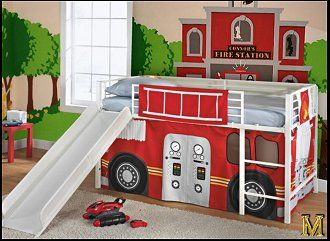 17 best ideas about fire truck beds on pinterest cool kids beds toddler boy room ideas and - Fireman bunk bed ...