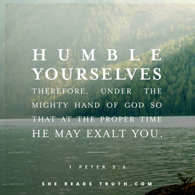 """Humble yourselves, therefore, under the mighty hand of God so that at the proper time he may exalt you."" ~ 1 Peter 5:6 #SheReadsTruth Day 14 #1and2Peter #OpenYourBible"