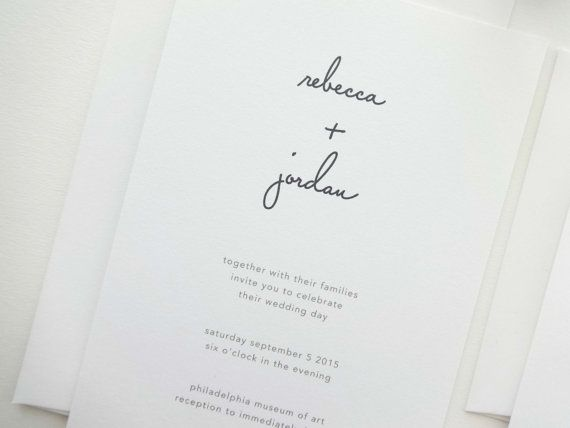DEPOSIT  Rebecca Wedding Invitation / Kraft by mariechangdesigns, $100.00