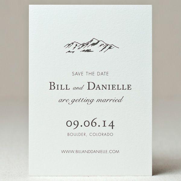 best 25 mountain wedding invitations ideas on pinterest wedding invitation rustic letterpress wedding invitations and outdoor wedding invitations - Mountain Wedding Invitations