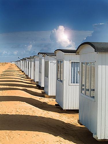 Little beach huts in Løkken