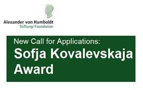 Alexander von Humboldt Foundation's Sofja Kovalevskaja Award in Germany, 2015