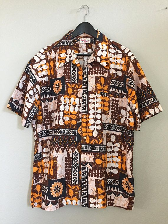 f4a40ceb Vintage 80s Hawaiian Shirt. BAREFOOT in PARADISE XL Cotton | Vintage ...