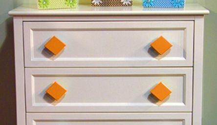 Dimaond Orange Drawer Pull