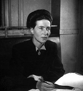 Simone de Beauvoir (1908—1986), French writer