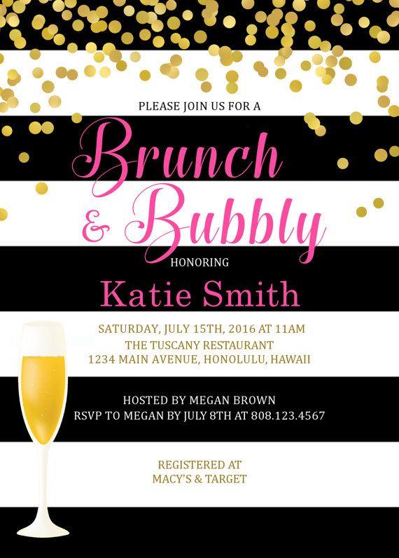 Invitación despedida de soltera de brunch por StrawberryPartyPrint