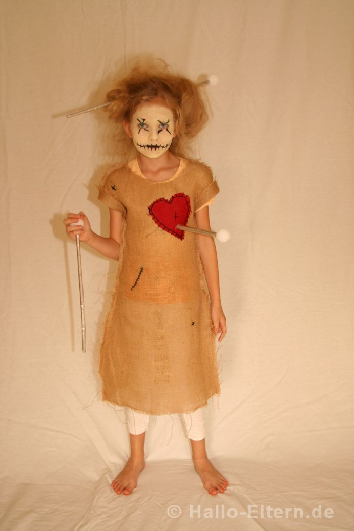 The lively voodoo doll for Halloween! She is so self-made