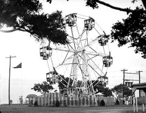 Sylvan beach, located in La Porte, Texas in the 1930s