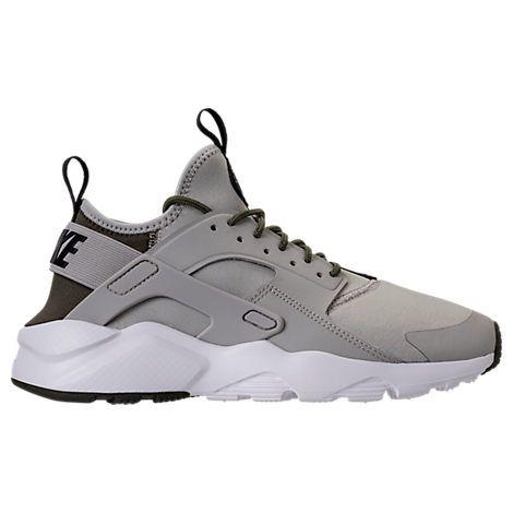 NIKE MEN'S AIR HUARACHE RUN ULTRA CASUAL SHOES, GREY. #nike #shoes #