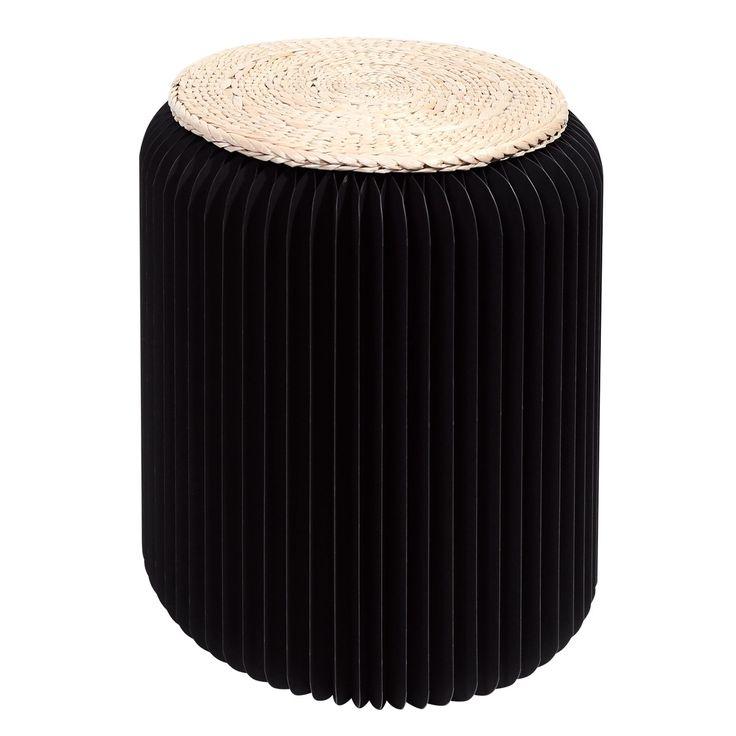 Tabouret pliable 42 cm noir