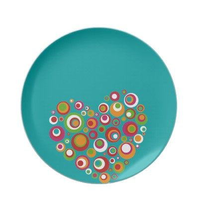 Retro Valentine Dinner Plates