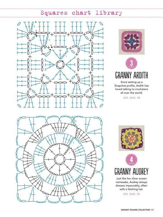 Die besten 17 Bilder zu Crochet Squares auf Pinterest   Patronen ...
