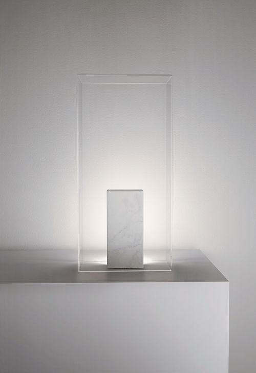 Kli | Product | Works | studio zero | light, marble and glass for kli, a table lamp that comes from a profound anthropological reflection on the eternal conflict between matter and soul | #lamp #product #productdesign #marble #elegance