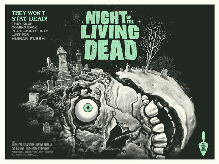 Night of the Living Dead (variant), by Gary Pullin #garypullin #nightofthelivingdeadprint
