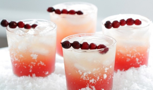 Signature Wedding Drinks: Winter Cocktails; Cranberry Vanilla Martini!
