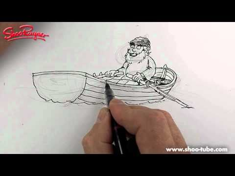how to draw a boat easily