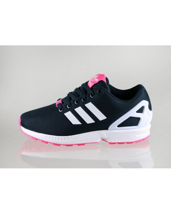 Best Adidas ZX Flux Womens Shoes Black White Pink Sale £54.80