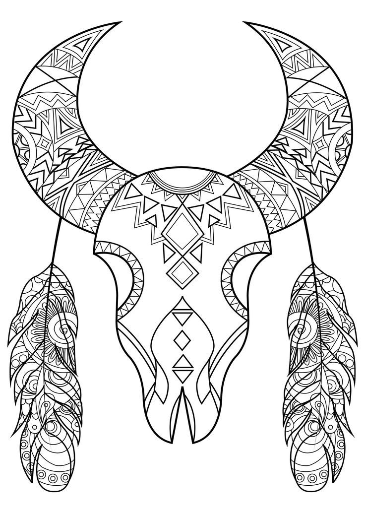 Native American Symbols Printable Native Americans Native American Symbols Native American Patterns Skull Coloring Pages