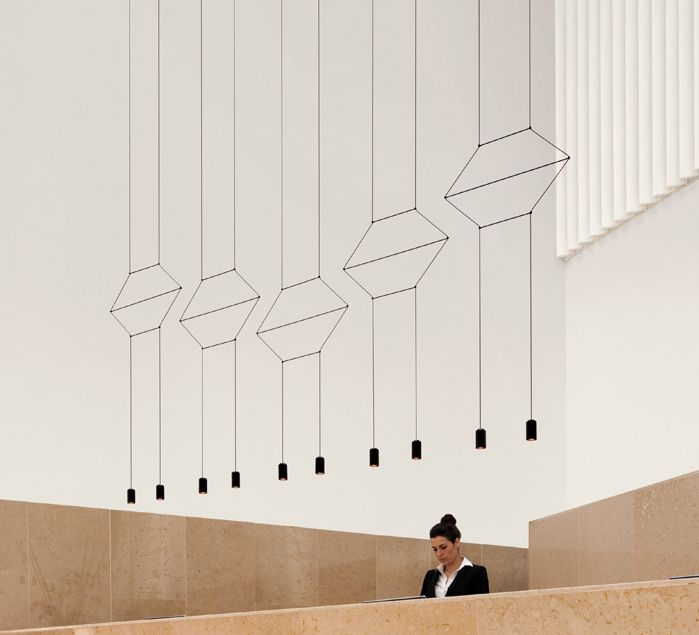 Hanging Sculptures Light Fittings With Infinite Possible Configurations