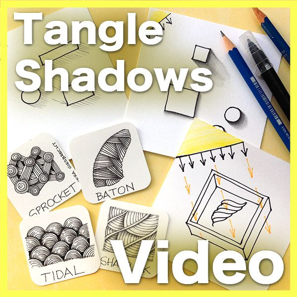 Learn how to create convincing shadows without stress. In this 50 minute video lesson, learn how to create soft, diffuse shadows that will change the look of your Zentangle art.