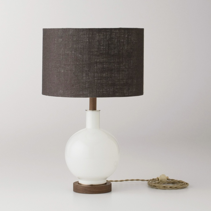 Bond lamp opal ceramic lampsfabric shadesglass table