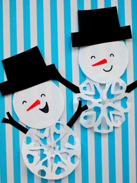 How to Cut Snowman Snowflakes (2 ways!)