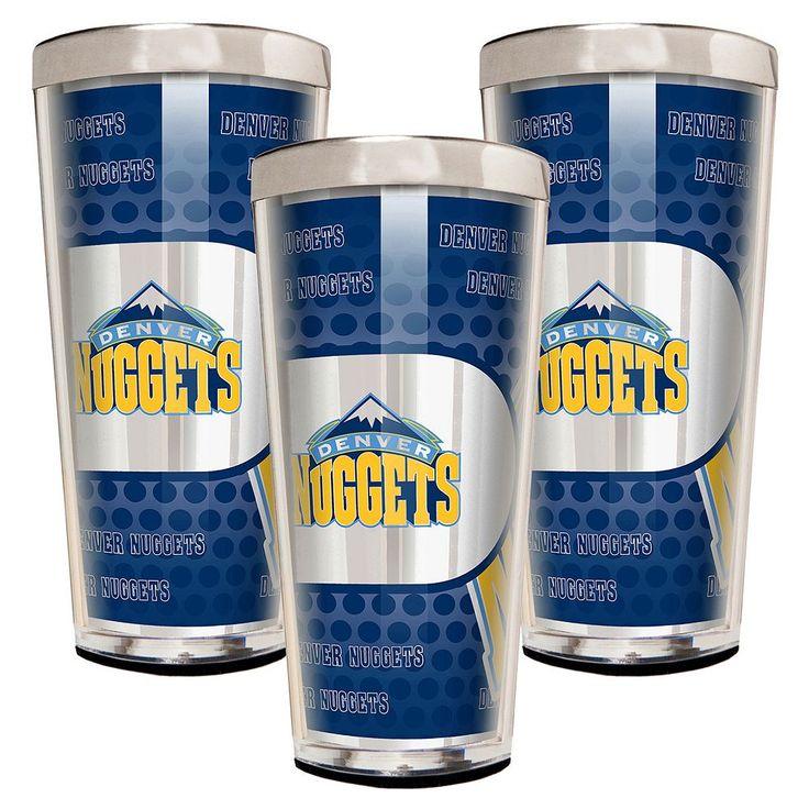 Denver Nuggets 3-Piece Shot Glass Set, Multicolor