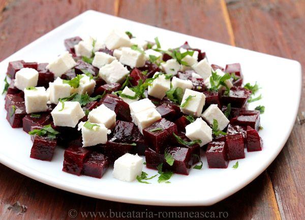 Salata de sfecla rosie cu branza